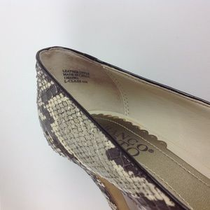 Franco Sarto Shoes - Franco Sarto Snakeskin Peep Toe Pump Heels Sz 6